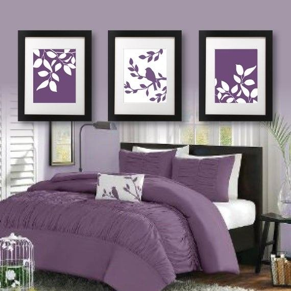 Best Master Bedroom Art Print Purple Bedroom By Rhondavousdesigns2 With Pictures