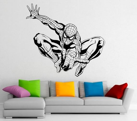 Best 1000 Ideas About Spiderman Wall Decals On Pinterest With Pictures