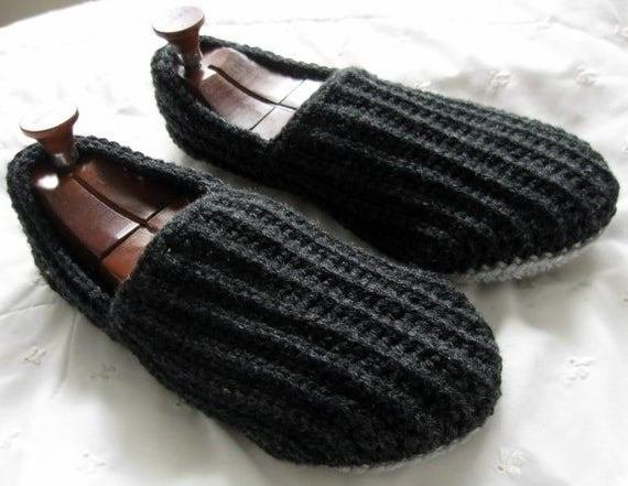 Best Size 13 Crochet House Slippers Dark And Light Grey By Wuglyees With Pictures