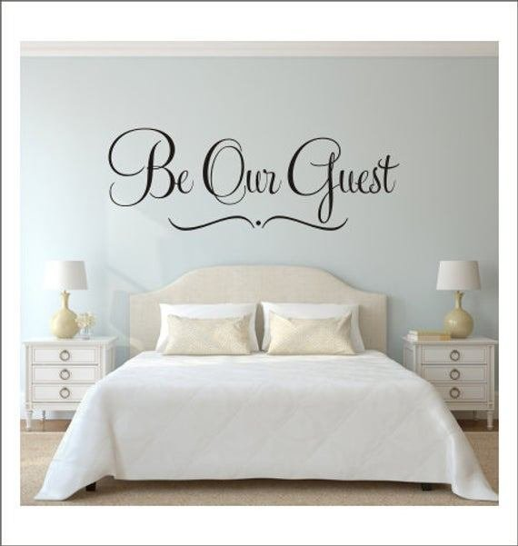 Best Be Our Guest Wall Decal Guest Bedroom Decal Home Decor Wedding With Pictures