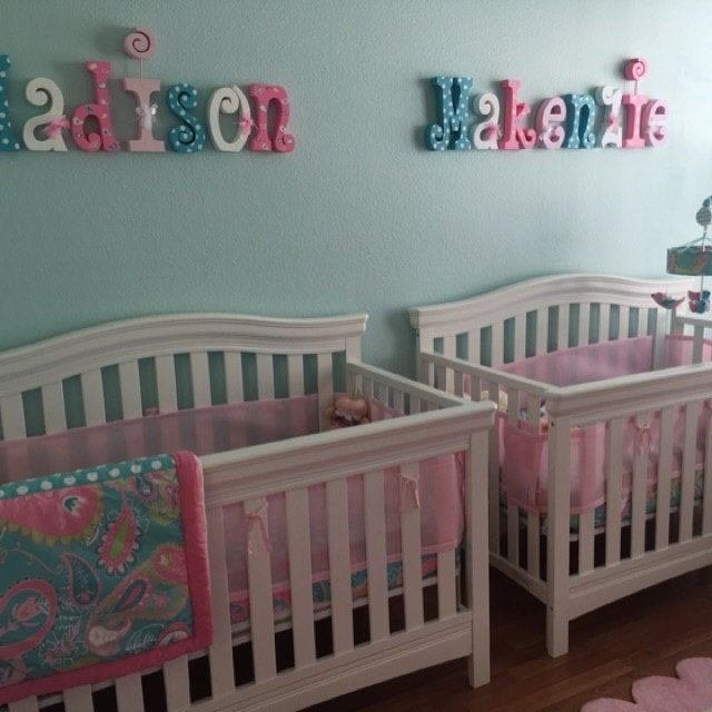 Best Nursery Wall Decor Wood Letters 6 Letter Set Kids Room With Pictures