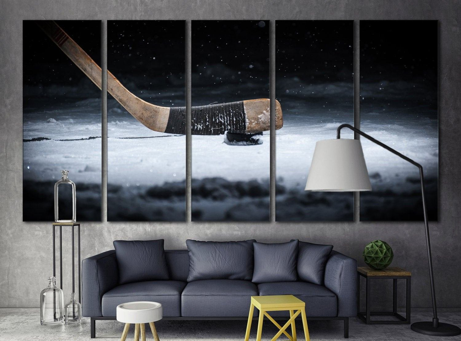 Best Hockey Canvas Print Wall Art Room Decor Ice Hockey Art Print With Pictures