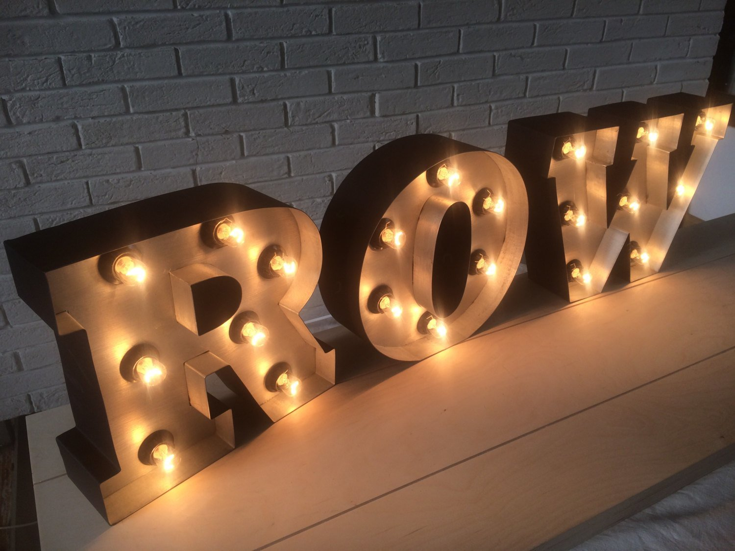 Best Industrial Decor Letter Light Up Custom Letters Illuminated With Pictures