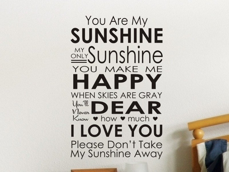 Best You Are My Sunshine Wall Decal Master Bedroom Wall Sticker With Pictures