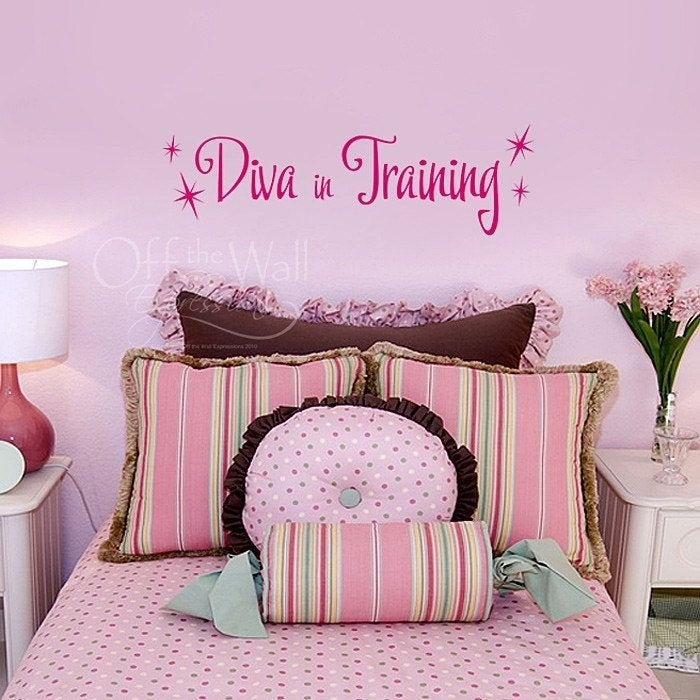 Best Diva In Training Vinyl Wall Decal Girls Bedroom Decor Pink With Pictures