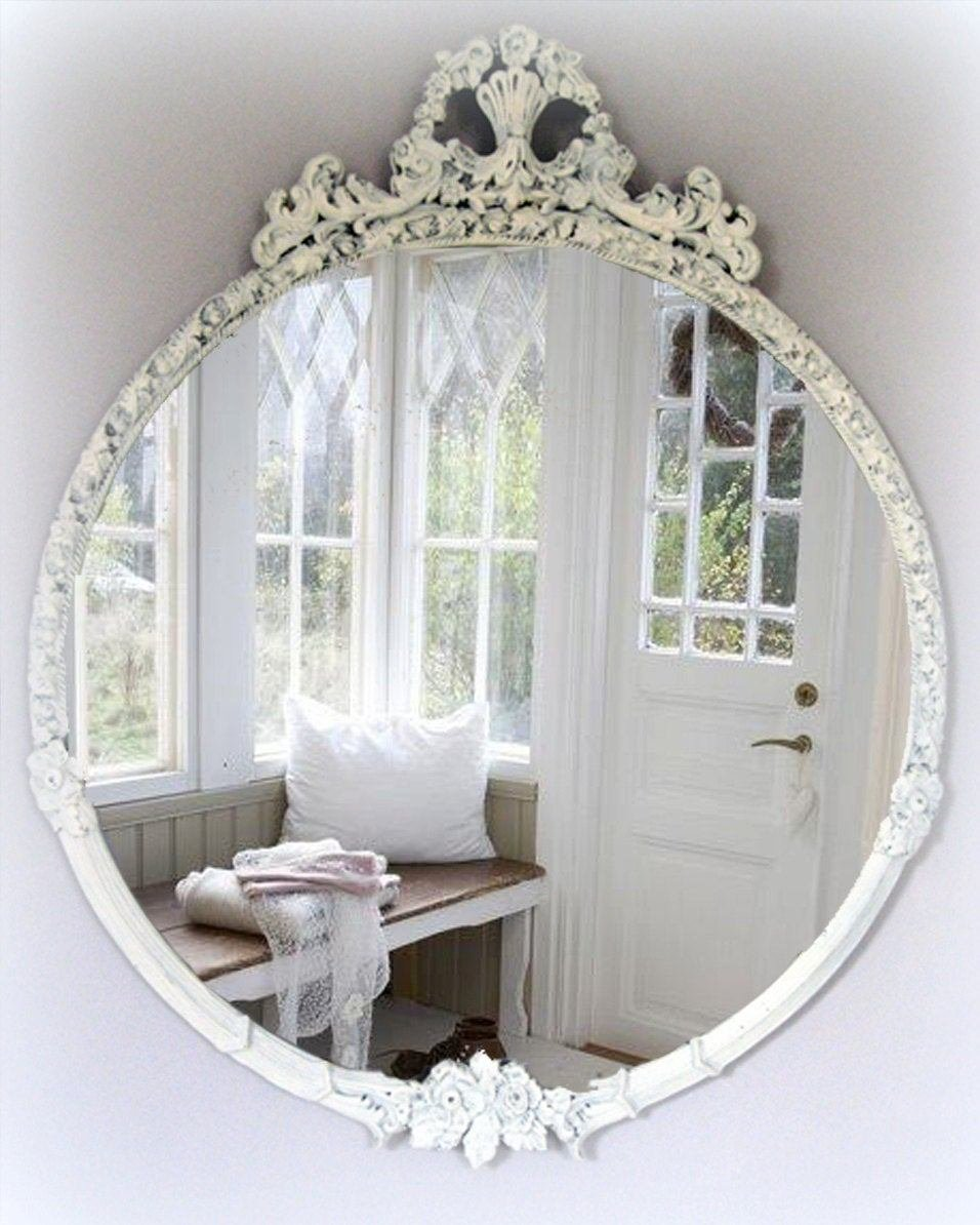 Best Large Vintage Shabby Chic Mirror Cottage Chic French Country With Pictures