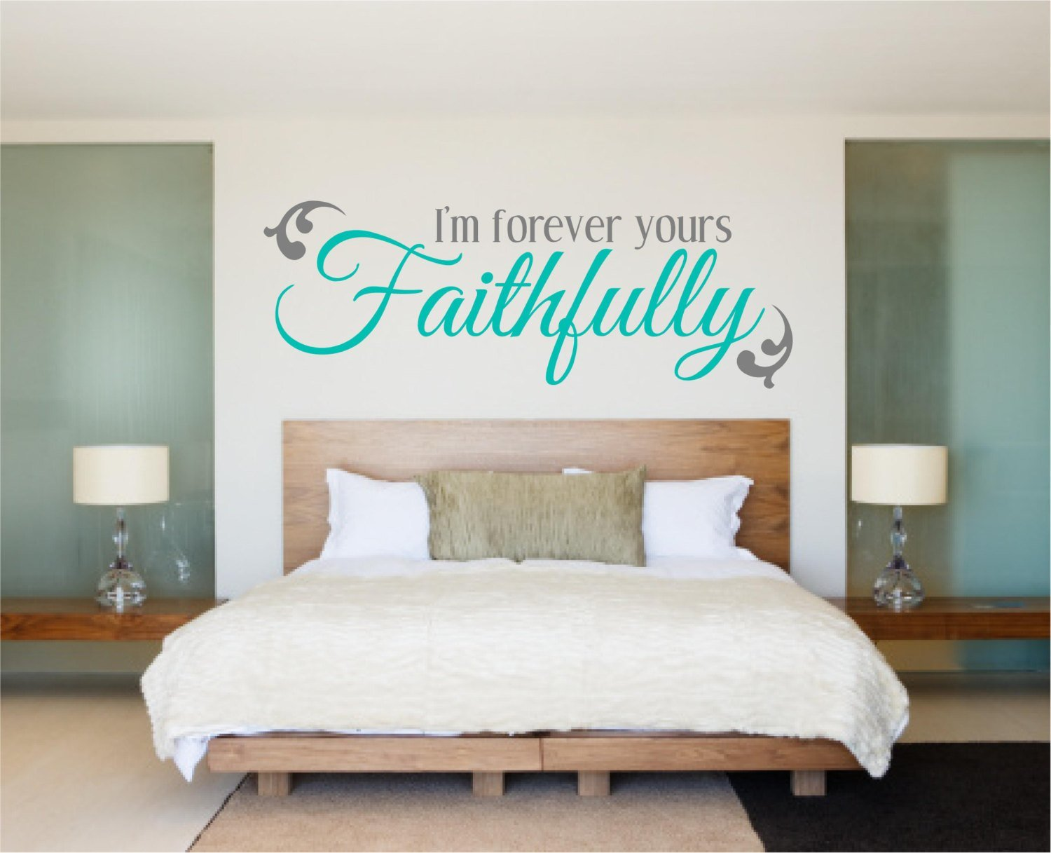 Best Bedroom Decal Bedroom Wall Decal Love Decal I M Forever With Pictures