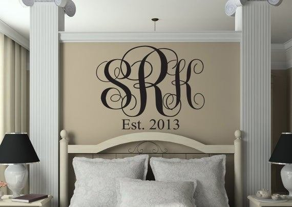 Best Items Similar To Monograms Monogrammed Decal Monogram With Pictures