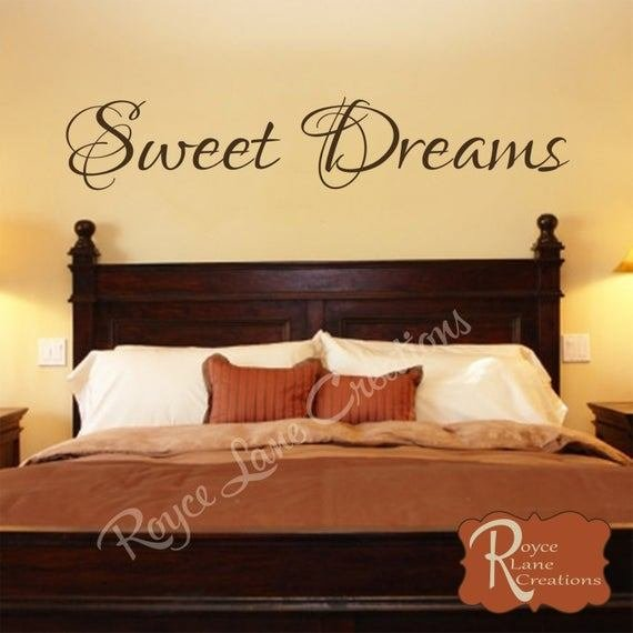Best Bedroom Decal Sweet Dreams Vinyl Bedroom Wall Decal With Pictures