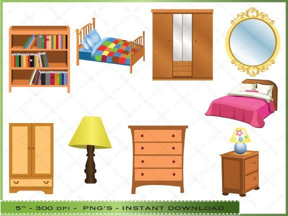 Best Furniture Clipart Clip Art Of Bedroom By Digitalclipartstore With Pictures