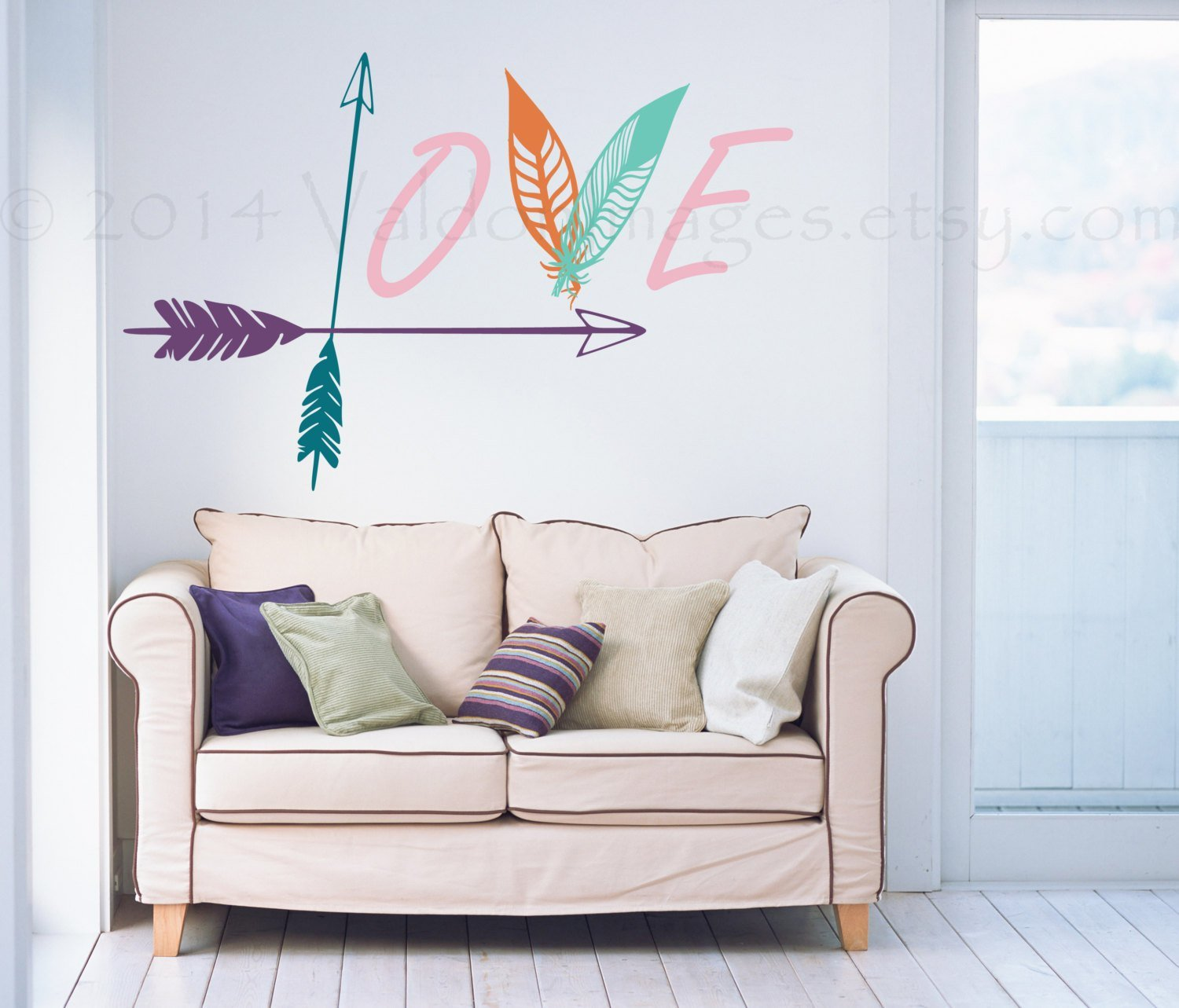 Best Arrow And Feather Wall Decal Love Wall Decal Bedroom Wall With Pictures