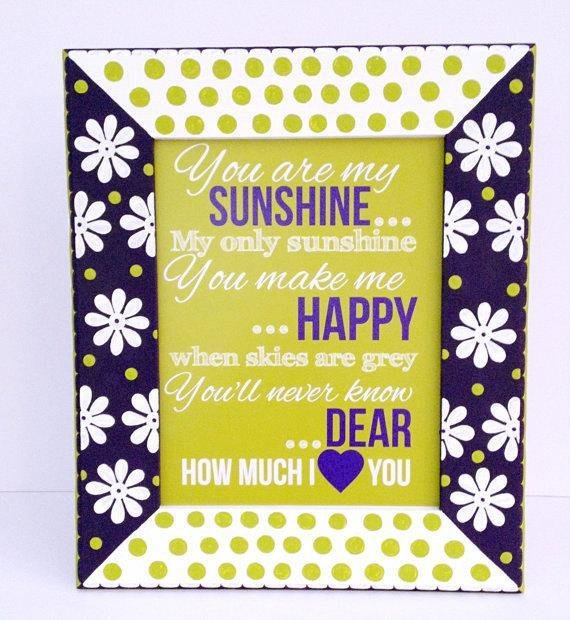 Best You Are My Sunshine Framed Nursery Print Kids Bedroom Decor With Pictures