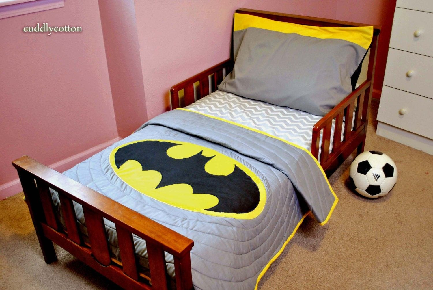 Best Batman Super Hero Toddler Bedding Set Toddler By Cuddlycotton With Pictures