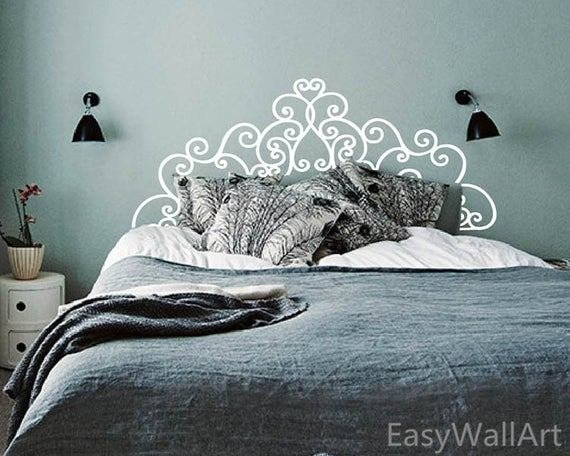 Best Headboard Wall Decal Bedroom Headboard Decal Headboard With Pictures