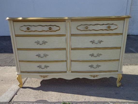 Best French Provincial Sears Bonnet Dresser Chest Of Drawers Shabby With Pictures