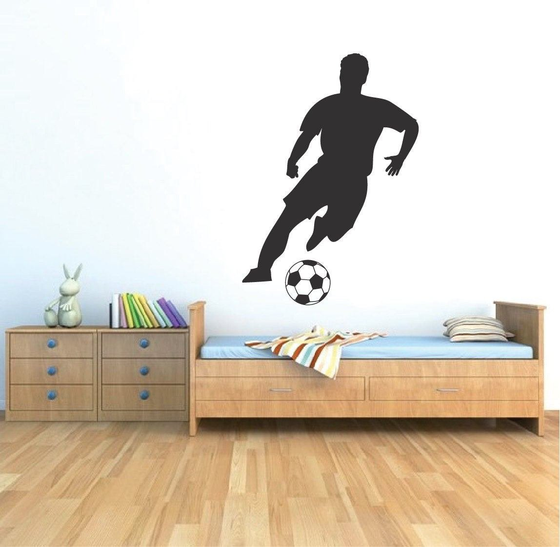 Best Soccer Player Wall Art Decal Sticker For Kids Bedroom Soccer With Pictures