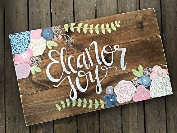 Best Nursery Decor Name Sign Rustic Decor Home Decor Girl With Pictures