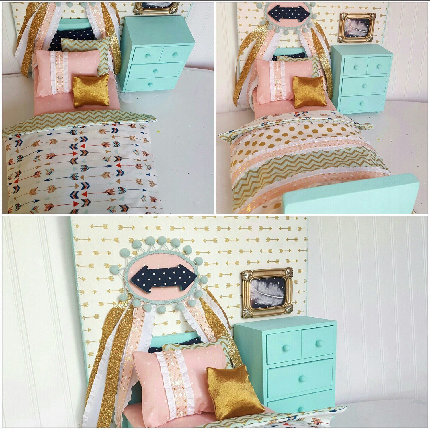Best Arrow Doll Bed Set 18 Doll Bed Doll Bedding Doll Bed With Pictures