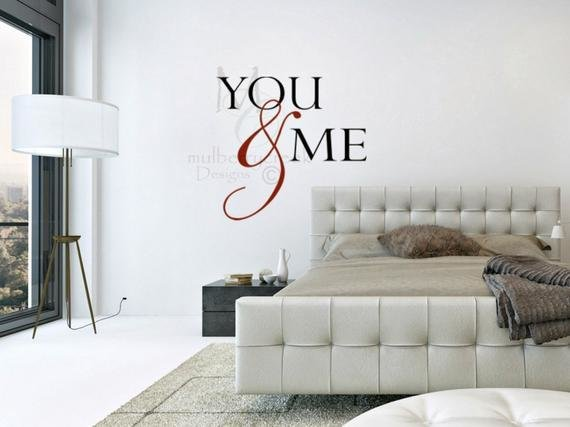 Best Romantic Wall Decals Master Bedroom Wall Decal Newlywed With Pictures