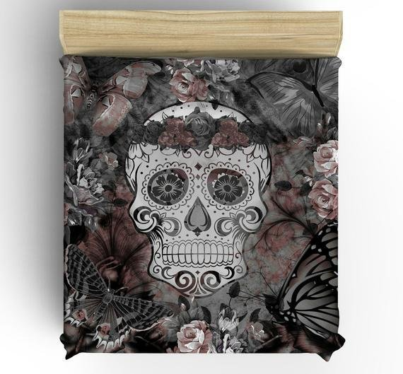Best Items Similar To Skull Bedding Day Of The Dead Duvet With Pictures