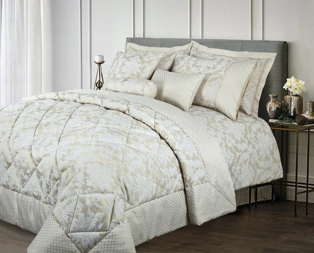 Best New 5 Hotel 10 Piece Full Bedroom Set Floral Cream Gold French Duvet Cover Set Ebay With Pictures