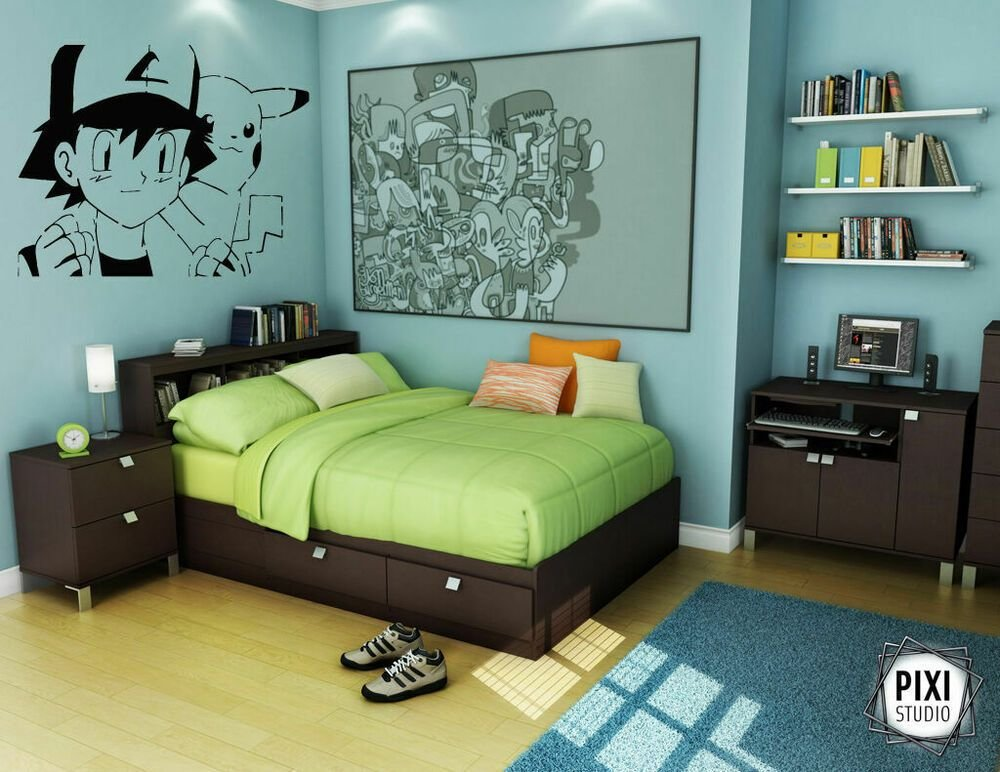 Best Wall Decal Sticker Bedroom Anime Boy Cartoon Pokemon With Pictures