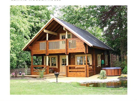 Best Cabin Kit 1 472 Ft 2 Story 3 Bed Wooden Guest House Home With Pictures