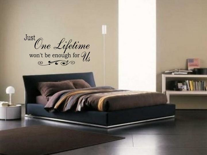 Best Just One Lifetime Wall Art Vinyl Decal Bedroom Lettering With Pictures