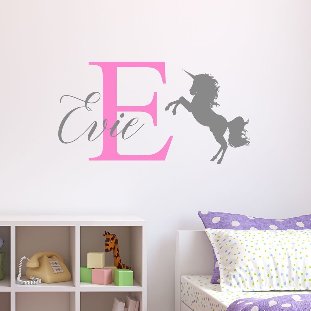 Best Personalised Unicorn Wall Sticker Wall Decal Childrens With Pictures