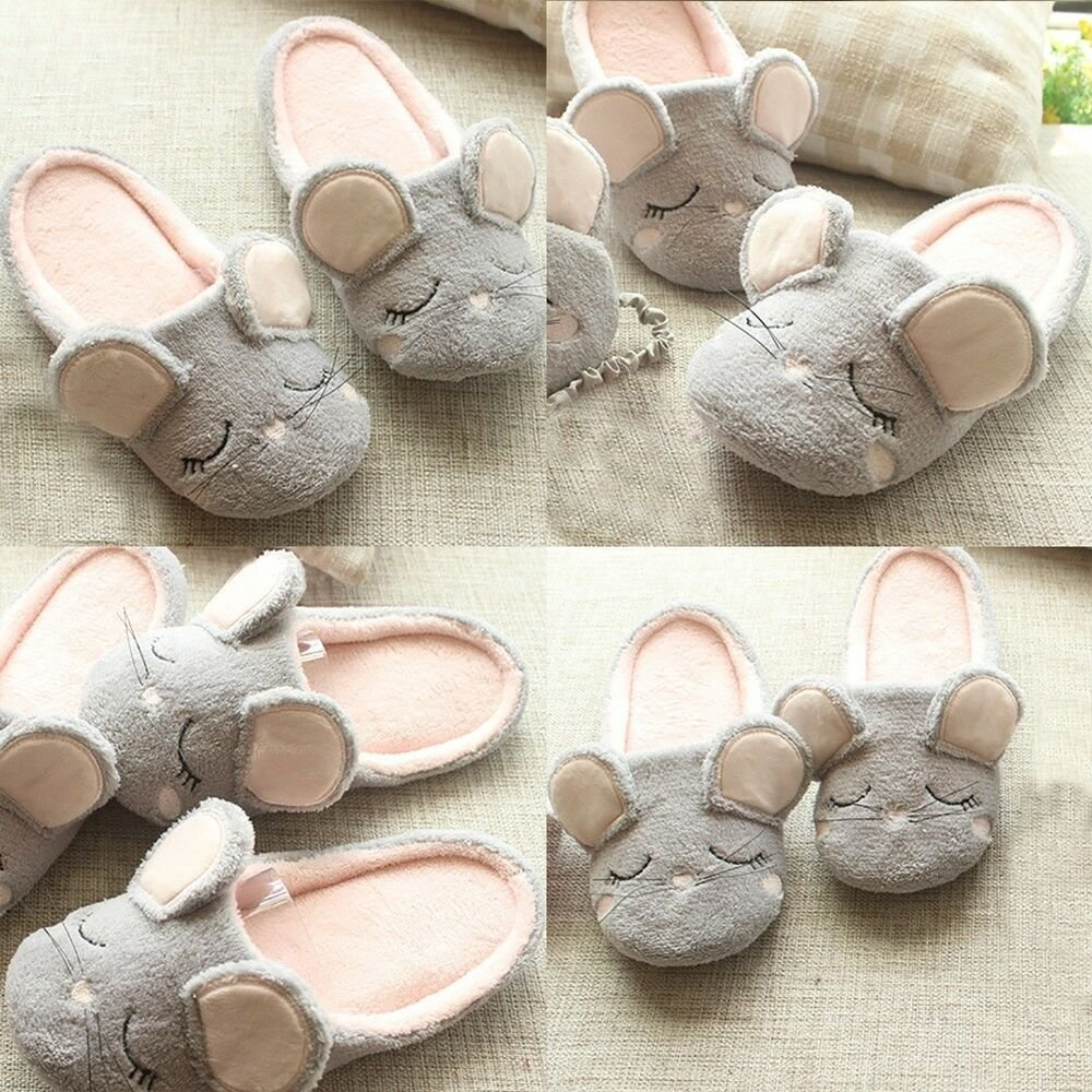 Best Cute Mouse Women S Home Slippers Girls Ladies Soft Bottom Indoor Bedroom Shoes Ebay With Pictures