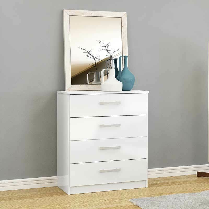 Best Lynx Chest Of Drawers 4 Drawer Metal Handles Runners Bedroom Furniture Ebay With Pictures