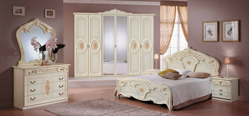 Best Sara Elegant Italian Bedroom Furniture Set 6 Pieces In With Pictures