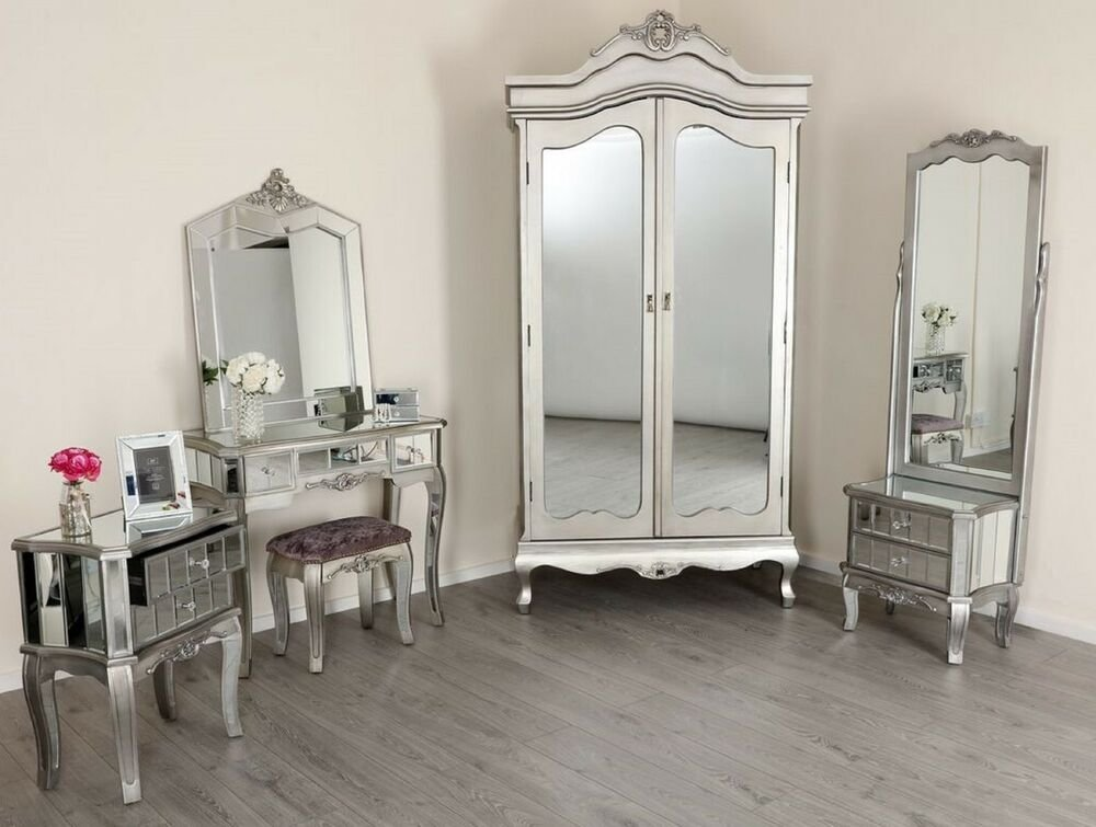 Best Mirrored Tv Stand Wardrobe Dressing Table French Style With Pictures