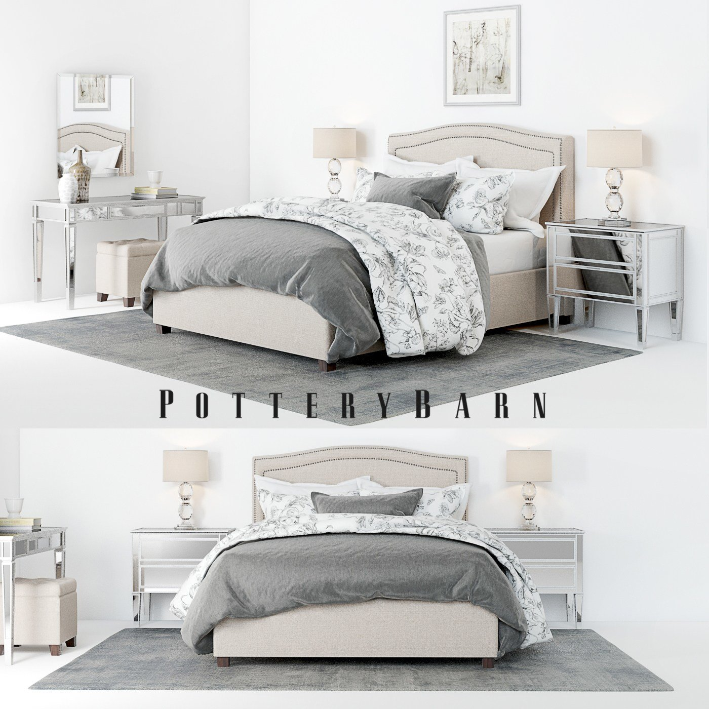Best Pottery Barn Tamsen Bedroom Set With Decor With Pictures