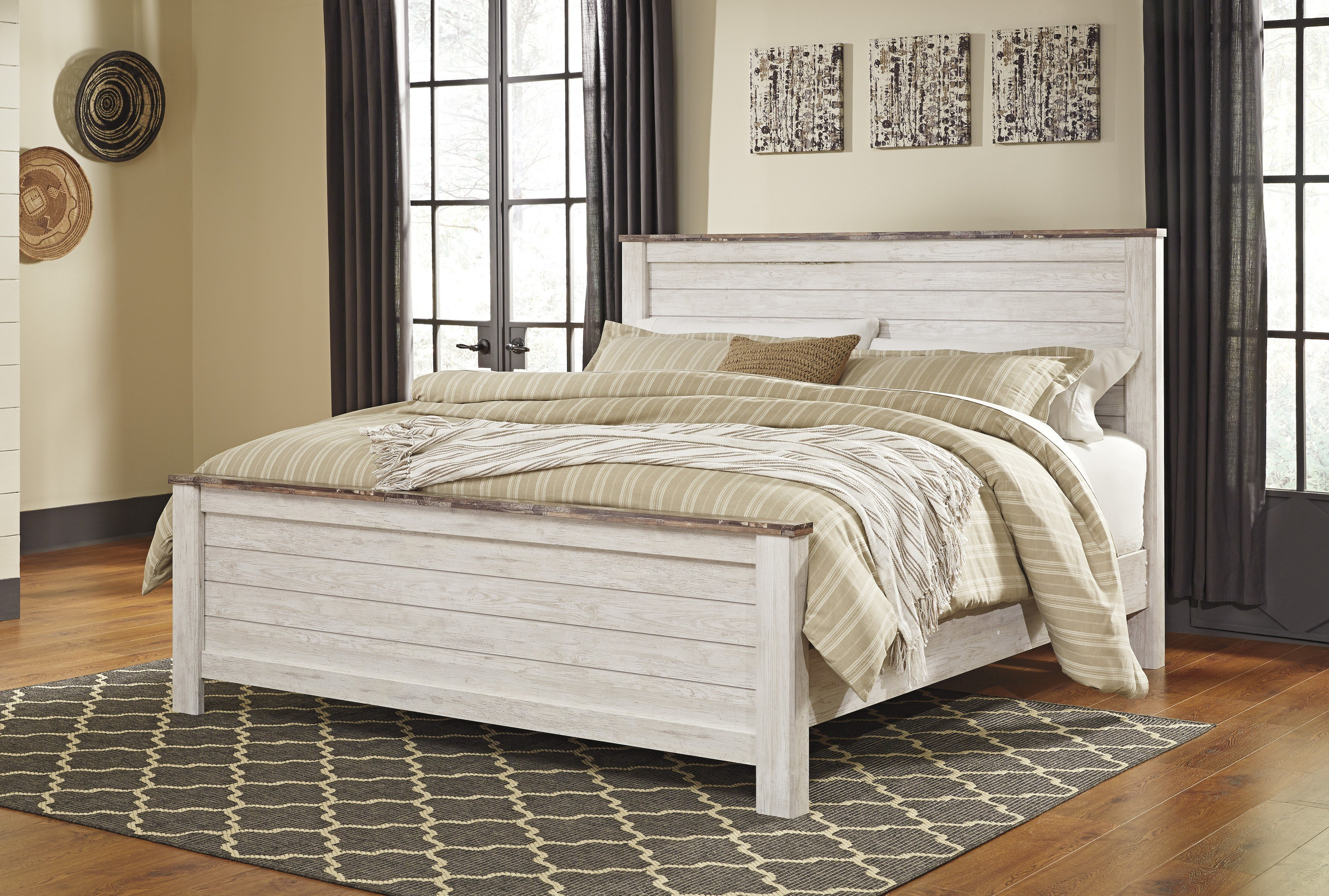 Best Willowton Whitewash Bedroom Set Clearance Sale Marjen With Pictures