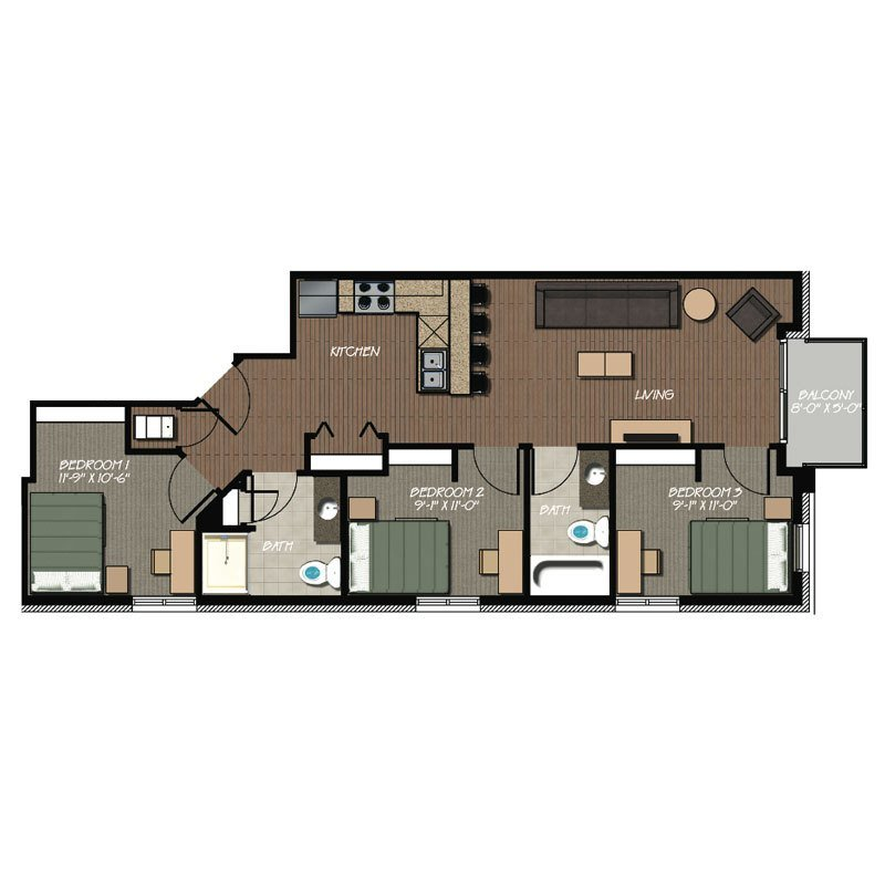Best 3 Bedroom 2 Bath Apartment 229 At Lakelawn With Pictures