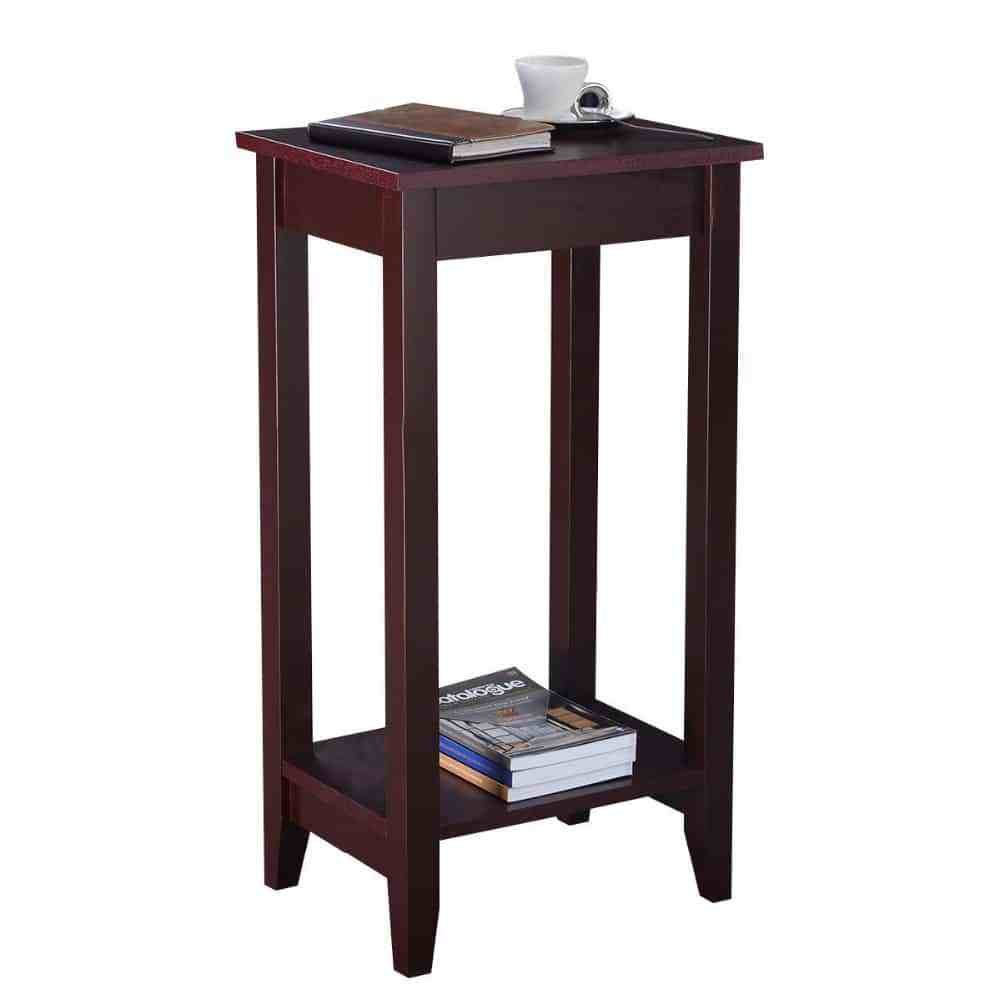 Best Wooden Tall End Table For Bedroom Living Room – Borkut With Pictures