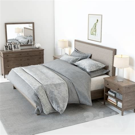 Best 3D Models Bed Pottery Barn Toulouse Bedroom Set With Pictures
