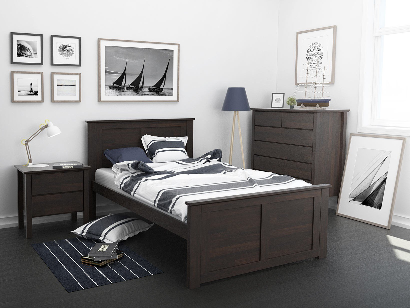 Best King Single Bedroom Suites 50 75 Off Sale Built With Hardwood B2C Furniture With Pictures