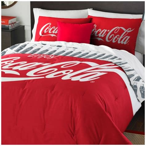 Best Coca Cola Logo Bedding Set Coke Bottles Comforter Sheets With Pictures