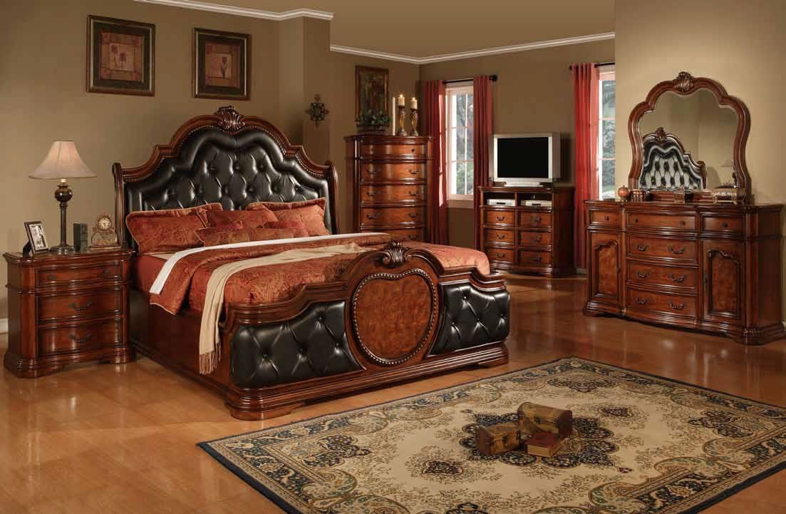 Best Cherry Bedroom Furniture Leather Headboard Cherry Wood With Pictures