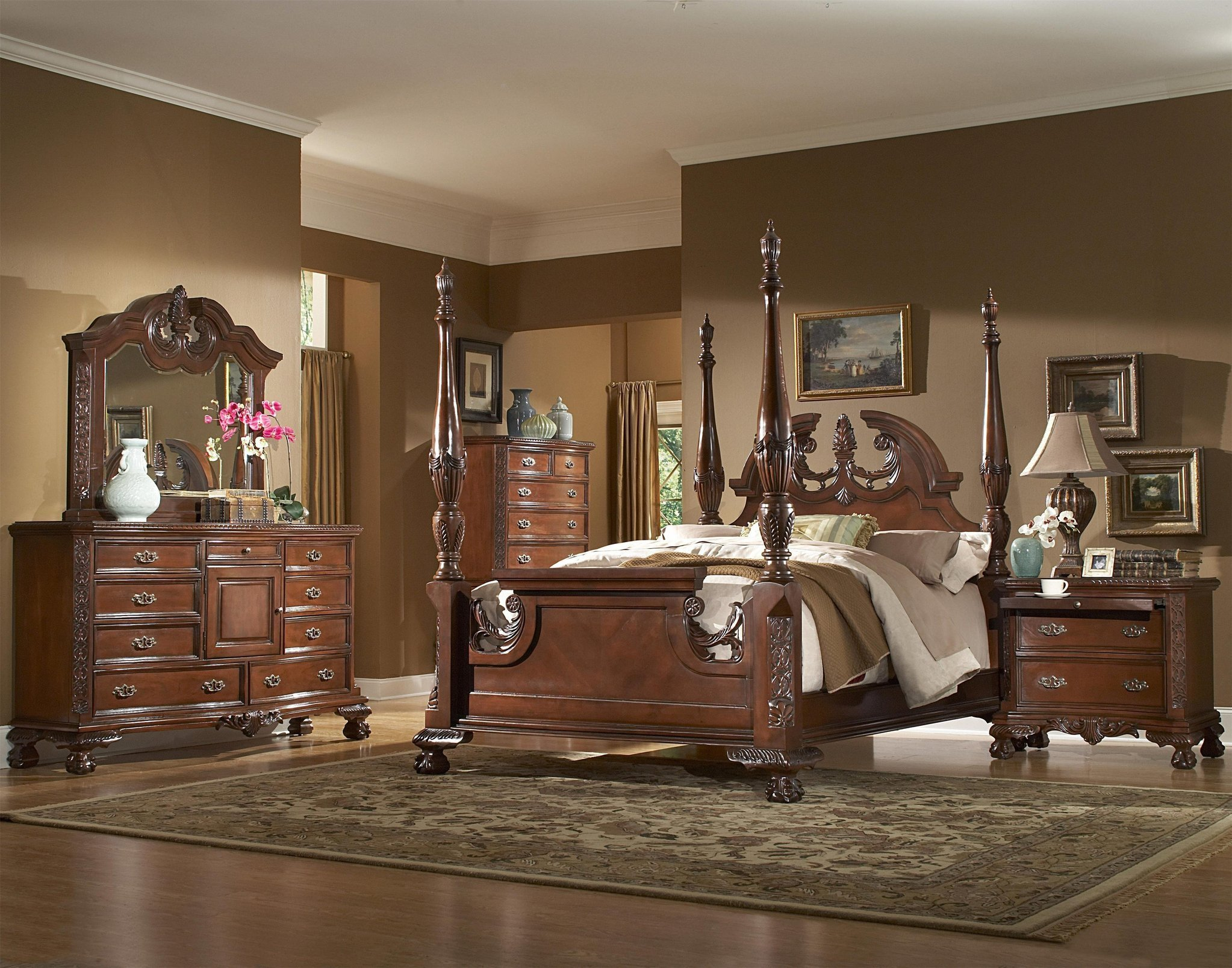 Best Tall Poster Rice Bedroom Set With Pictures