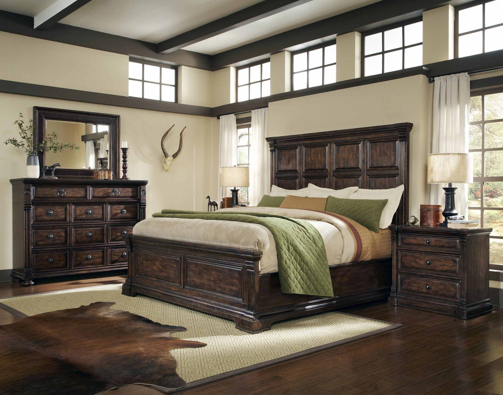 Best Whiskey Oak Panel Bedroom Collection Bedroom Furniture With Pictures