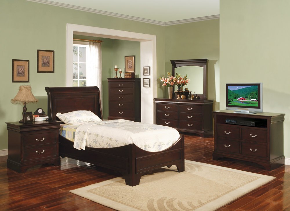 Best Renaissance Youth Espresso Sleigh Bedroom Set Bedroom With Pictures