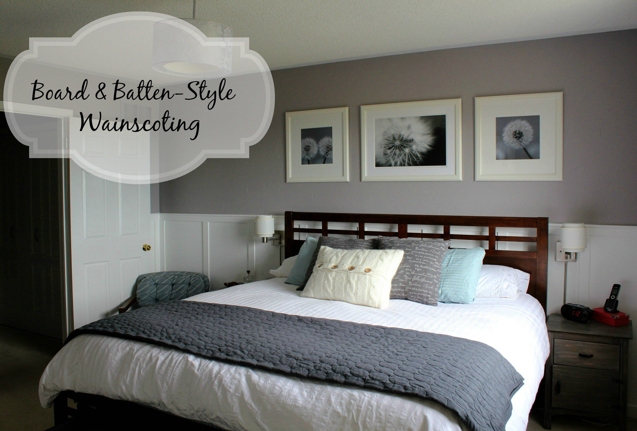 Best Turtles And Tails Upgrade Your Bedroom With Board And Batten Style Wainscoting With Pictures