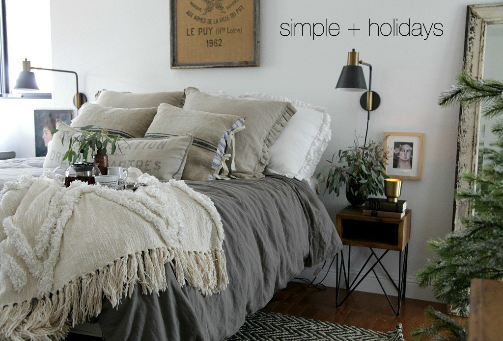 Best Modern Farmhouse Bedroom Simple Christmas Jeanne Oliver With Pictures
