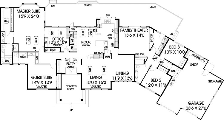 Best Five Bedroom Ranch Hwbdo House Plan House Plans 29528 With Pictures