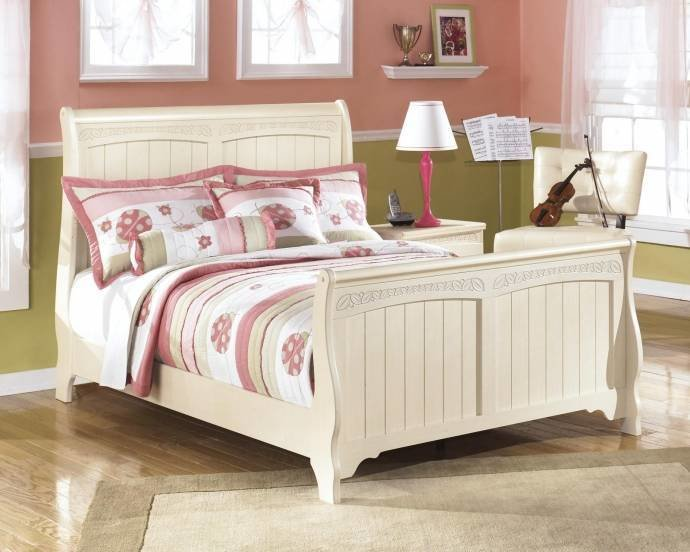 Best Ashley Cottage Retreat B213 Full Size Sleigh Bedroom Set 3Pcs In Cream Cottage B213 87 84 88 92 With Pictures
