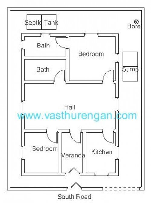 Best Vastu Plan For South Facing Plot 3 Vasthurengan Com With Pictures