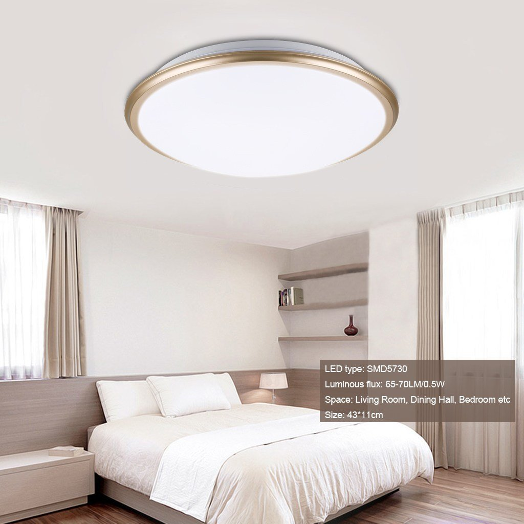 Best Led 17 Inch Round Flush Mounted Ceiling Light Downlight With Pictures
